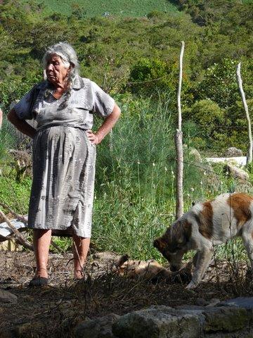 La grand-mère et le chien