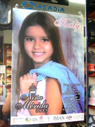 Affiche du concours Niña Mérida