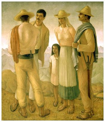 Hector Poleo (1918-1989), Familia Andina, 1944