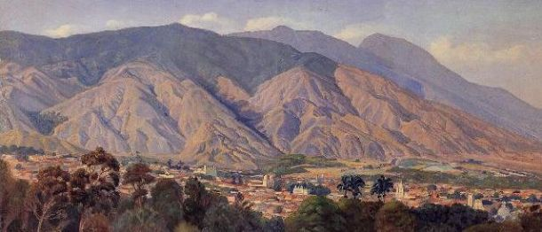 Manuel Cabré (-1984), Vista del valle de Caracas desde el Calvario, 1927