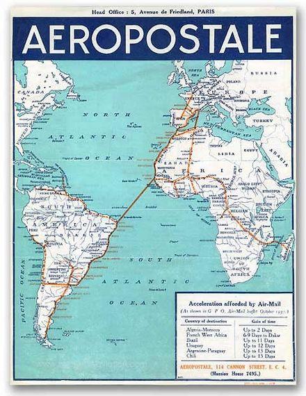 Les destinations de l'Aéropostale