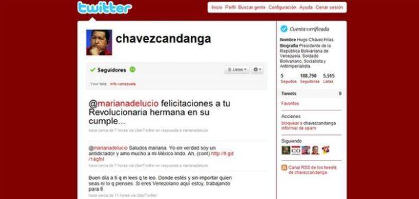 Hugo Chavez sur Twitter