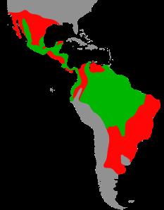 Aire de distribution du jaguar