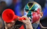 joueur de vuvuzela en Afrique du Sud