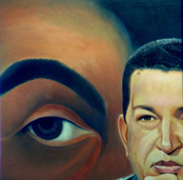 Hugo Chavez et Simon Bolivar