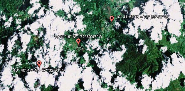 Camps rebelles: coordonnées présentées par la Colombie