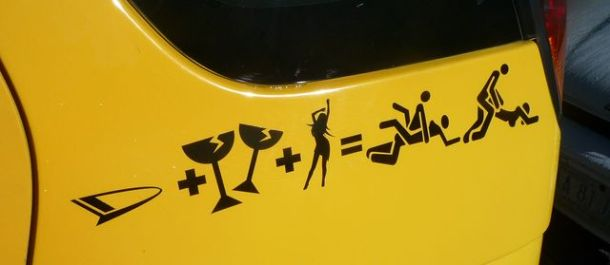 L'équation: voiture, boisson, sexe