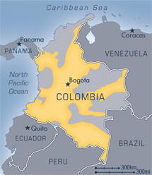 Colombie : zone sous l'influence des FARC
