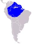 Répartition géographique du hoazin (Opisthocornus_hoazin)