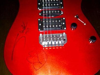 Guitare dédicacée par Shakira