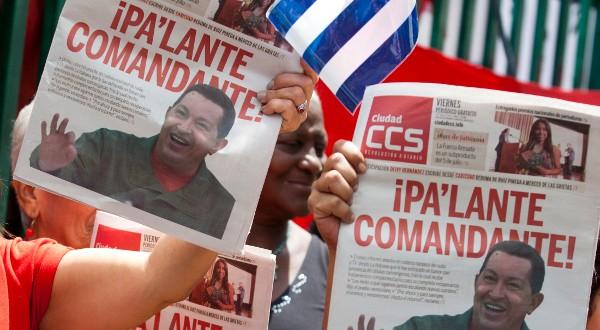 Soutien à Chavez malade
