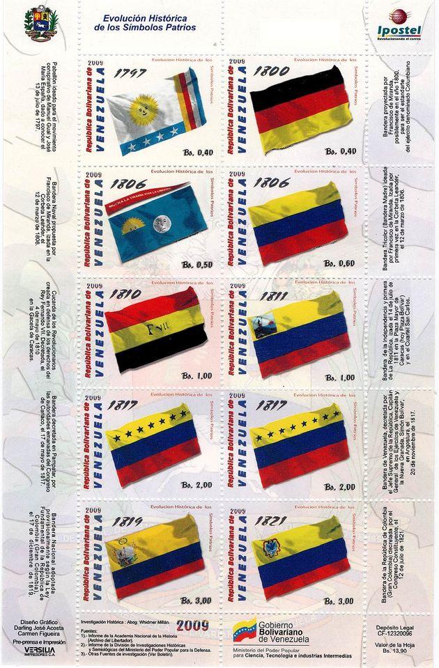 timbres - drapeaux du Venezuela