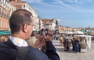 Touristes vénézuéliens à Venise