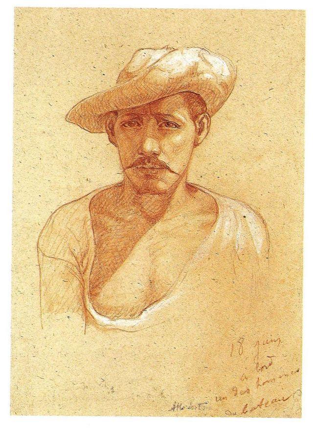 Auguste Morisot, Un des hommes du bateau