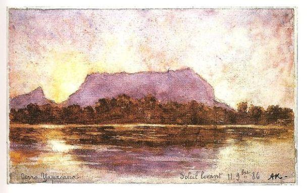 Amanecer en el cerro Yapacana