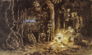 Auguste Morisot, Nuit dans la forêt