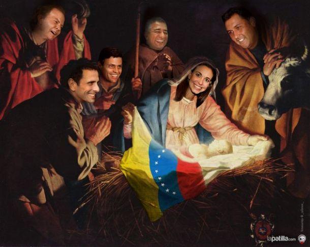 Crèche de l'opposition vénézuélienne