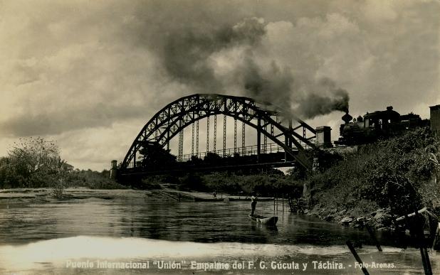 Le pont Unión entre Puerto Santander (Colombia) y Boca del Grita (Venezuela)