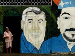 Peinture murale politique au Venezuela