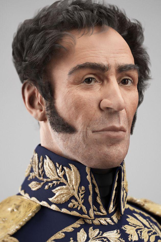 Portrait reconstitué de Simon Bolivar en 3D