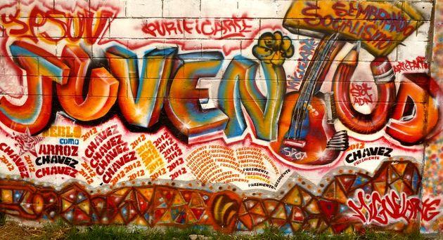 Peinture murale pro-Chávez
