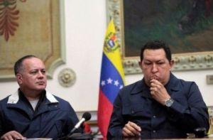 Hugo Chávez et Diosdado Cabello