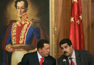 Hugo Chávez et Nicolas Maduro