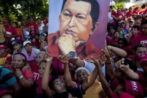 Manifestation pro Chávez
