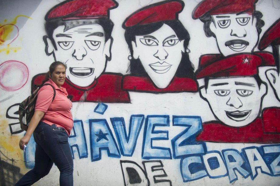 peinture murale chavez Caracas