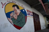 peinture mural chavez Caracas