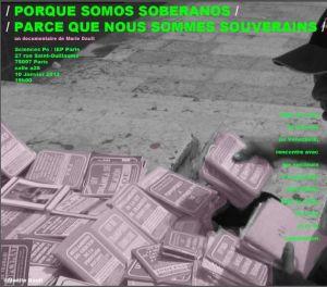 """L'affiche de """"Porque somos soberanos"""" de Marie Dault"""
