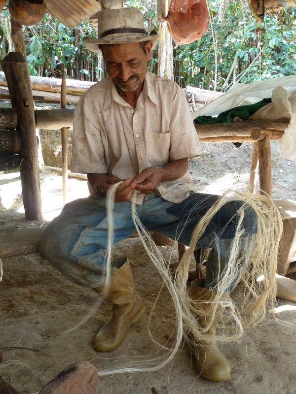 Alvino Escalona, artisan de Chacantá
