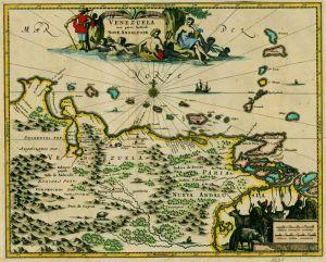 Carte du Venezuela de 1671