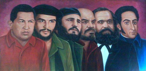 Chavez, Che, Fidel, Lénine, Marx et Bolivar