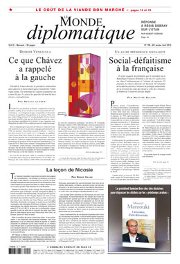 Monde Diplomatique, avril 2013