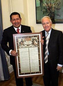 Hugo Chávez et Georges Sarre
