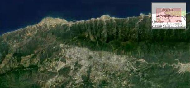 Caracas vue par satellite