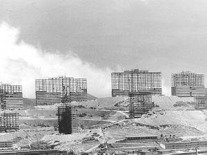 Caracas Le complexe du 23 de enero en construction