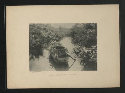 Arrivée d'un bateau chargé d'orchidées à La Prision