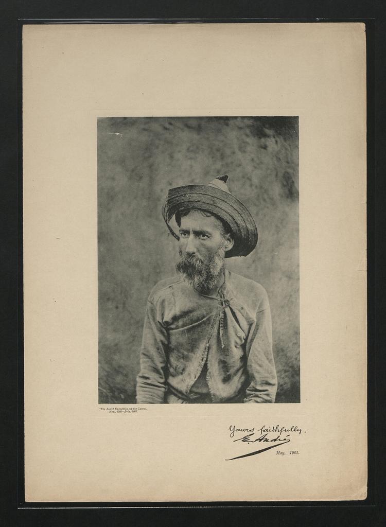 Eugène André au retour de l'expédition du Caura