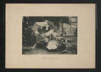 Femme Waiomgomo filant le coton