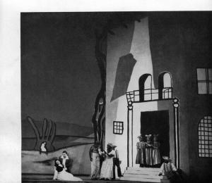 Darius Milhaud, Bolivar (1950) : Décor de Fernand Léger