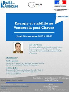 Conférence Energie et stabilité au Venezuela post-Chavez