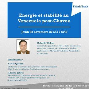 Conférence «Énergie et stabilité au Venezuela post-Chávez» àParis