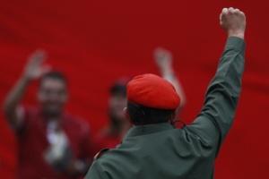 Hugo Chávez vu de dos