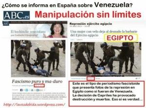 Pour ABC, une scène de répression en Égypte devient vénézuélienne