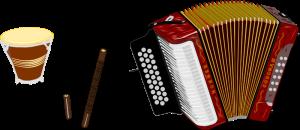 Tambour, guacharaca, accordéon : les trois instruments traditionnels du vallenato